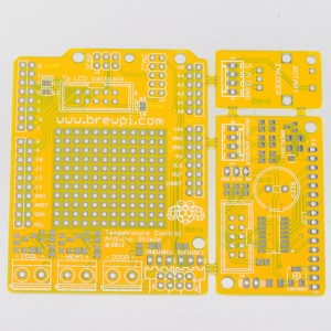 BrewPi Arduino Shield PCB, top view