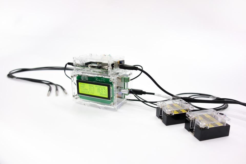BrewPi Case 2.0 with sensors and actuators