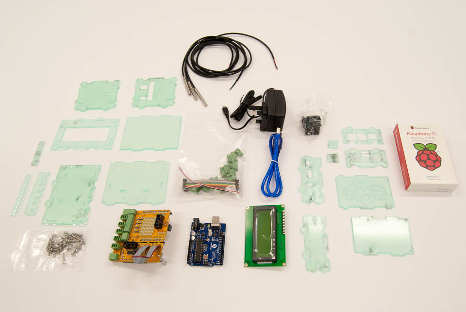 Here is an overview of all parts before assembly.