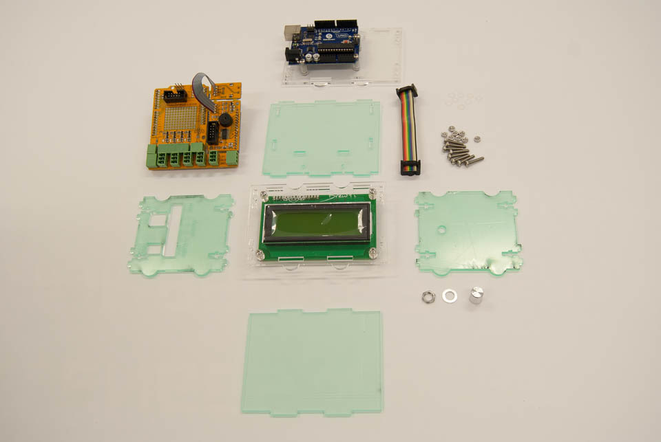 Arduino case parts and the stuff that goes inside!