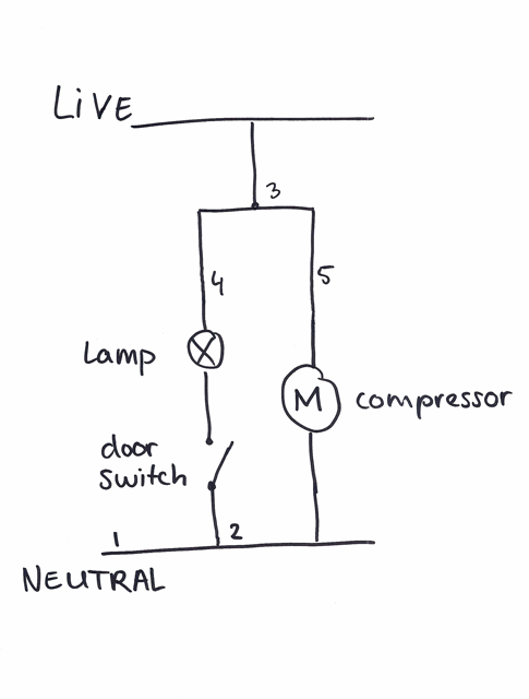 fridge schematic with thermostat removed brewpi