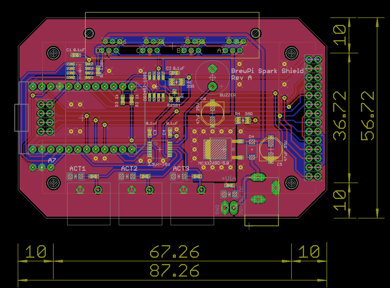 brewpi spark shield brd revA looking for feedback on brewing shield with touchscreen project 120V LED Wiring Diagram at edmiracle.co
