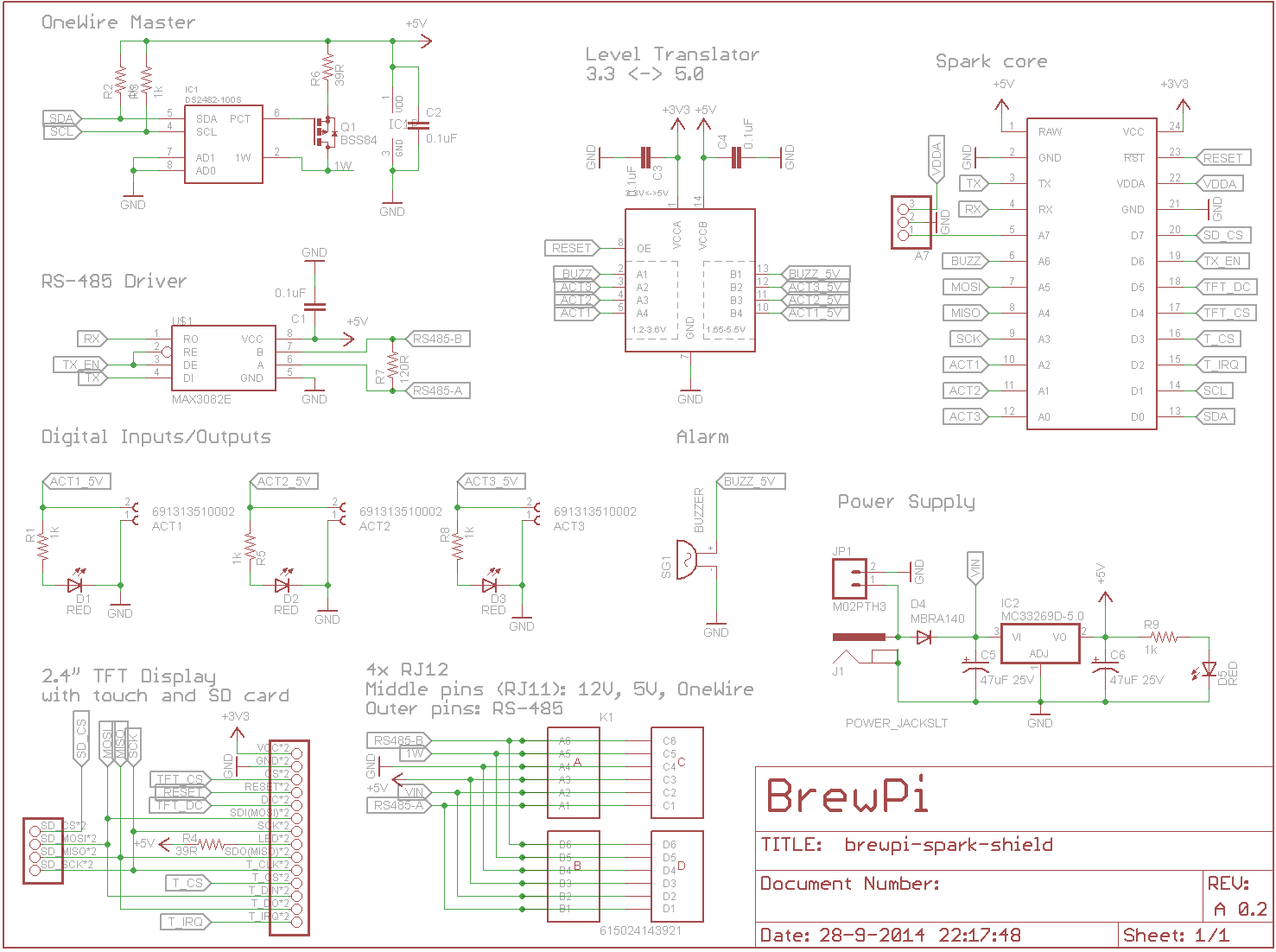 Looking For Feedback On Brewing Shield With Touchscreen Project Electronic Brewery Wiring Diagram I Changed The Pin Mapping Continuously To Try And Prevent Wires From Crossing End Result Is Pretty Small 90x60mm 2 Layers All Components One
