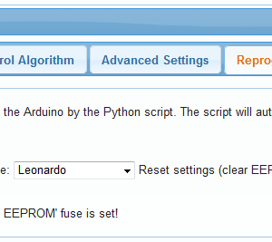 Reprogram the Arduino from your web interface