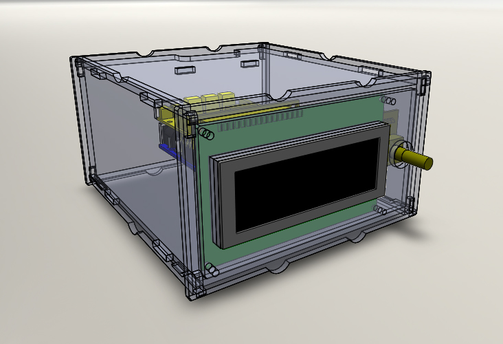 Front perspective view of the BrewPi Case