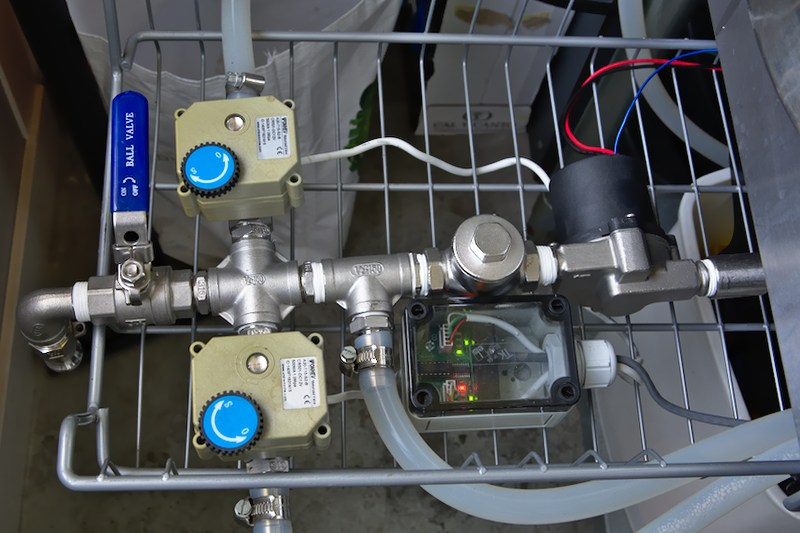 Elco's setup water pump cluster