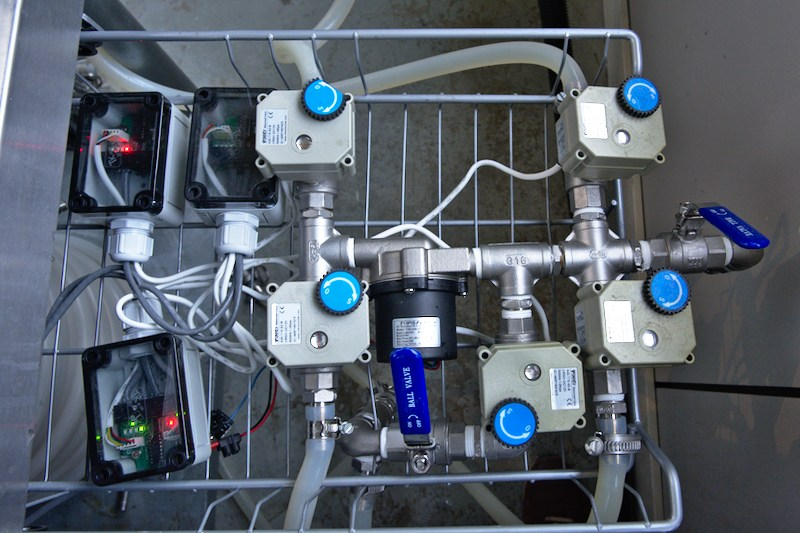 Elco's setup wort pump cluster